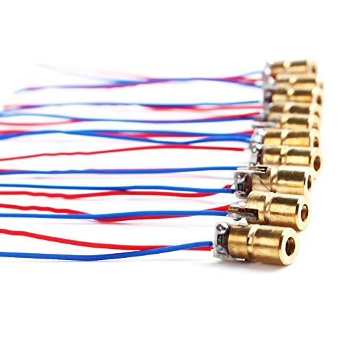 10x Demarkt Laserdiode Lasermodul Laser Punkt Dioden Laser Head Diode 5V 650nm 5 MW