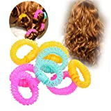 8 Pces Bigoudis de Beignets,Cercle Plastique Cheveux Rouleaux-3 Couleur Aléatoire
