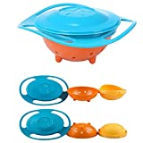 Txyk ciotola rotante Gyro Bowl, anti-rovesciamento, per bambini, rotazione di 360°, impedisce di rovesciare il cibo