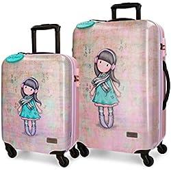 Santoro - Juego de maletas Multicolor rosa