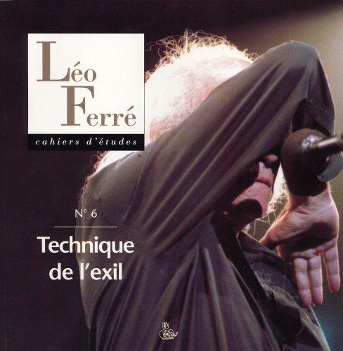 Cahier d'études Léo Ferré 6, tech...