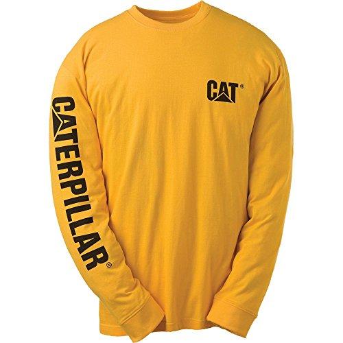 caterpillar-c1510034-t-shirt-a-manches-longues-homme-xl-jaune