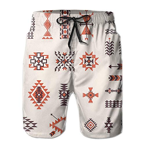 ZKHTO Men's Swim Trunks Native American Board Beachwear Casual Beach Shorts for Men,Shorts Size L (Russell Shorts Boys)