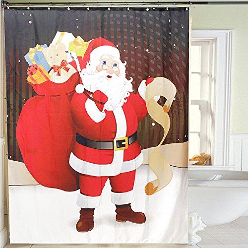 bluelover-150x180cm-decoracin-de-navidad-santa-claus-ducha-impermeable-cortina-bao-con-12-ganchos