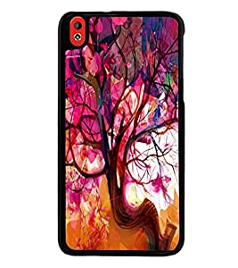 Fuson Premium 2D Back Case Cover Animated Tree With blue Background Degined For HTC Desire 826::HTC Desire 826 Dual
