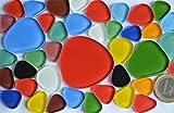 40 St. Pebbles Soft-Glas Mosaiksteine Buntmix ca. 105g.