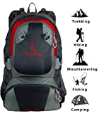 MOUNTAINBOCK Wanderrucksack 40 l Herren Damen Rot Schwarz - Camping Trekkingrucksack wasserdicht - Rucksack mit Regenschutzhülle - 2019
