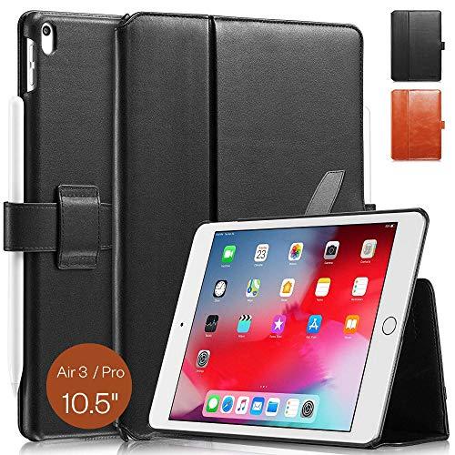 KAVAJ Étui en Cuir pour iPad Air 3 2019 10.5' Motif Londres Noir/Marron Cognac iPad Air 2019 Noir
