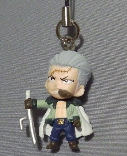 one piece figure Figurine Cell phone strap Charm ~ punk Hazard~ cool fight ~ Smoker