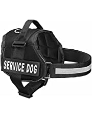 PetsUp Service Dog Harness, Chest Body Belt for Dogs (60-75CM Girth), Black