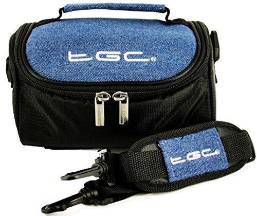 TGC - Funda para cámara Sony HDR-CX105E, HDR-CX115E, HDR-CX116E, HDR-CX155E, HDR-CX305E, HDR-CX350VE con Correa para el Hombro y asa de Transporte