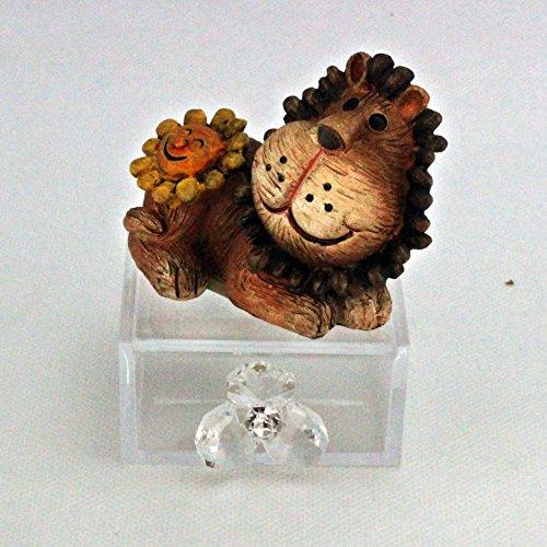 Dlm24440 scatoline in plexiglas con animaletti e fiore in cristallo (24 pezzi) bomboniera