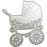 Cochecito de bebé carro tarjeta de papel DIY Scrapbooking muere troqueles de corte de metal Stencil