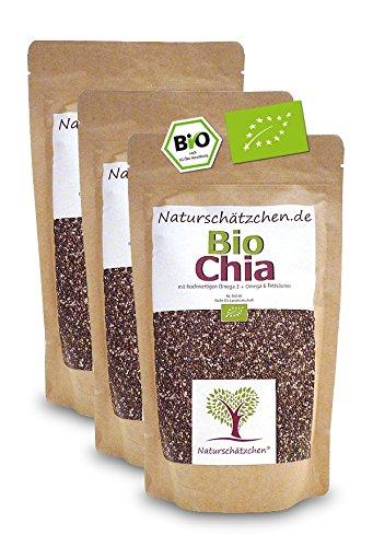 Sparset 3x Bio Chia Samen in geprüfter Bio-Qualität (DE-ÖKO-22) (500g)