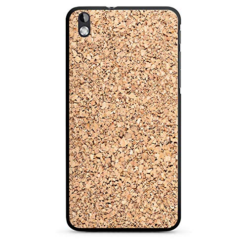 Hülle kompatibel mit HTC Desire 816 Handyhülle Case Holz Look Kork