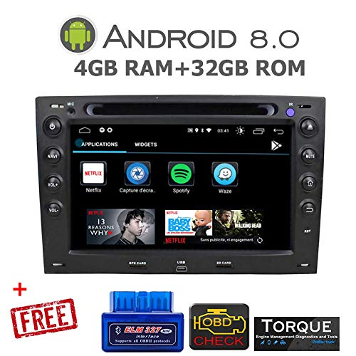 gümü-px5proat11-autoradio Megane 2Android 8.0Octa Core + 4GB RAM + 32GB ROM Navegación...