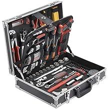 Meister Werkzeugkoffer 129-teilig ✓ Stabiler Alu-Koffer ✓ Werkzeug-Set ✓ Für Haushalt, Garage & Werkstatt   Profi Werkzeugkoffer befüllt   Werkzeugkiste   Werkzeugbox komplett mit Werkzeug   8971410