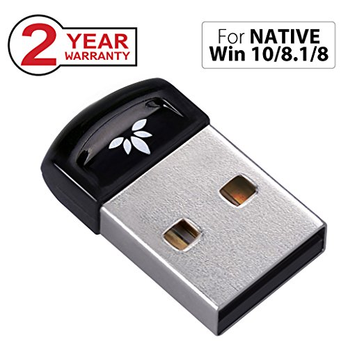 Avantree PLUG & PLAY Bluetooth 4.0 USB Dongle Adapter für NATIVE Windows 10, 8.1, 8 PC & Computer (NICHT für UPGRADED Systeme), Wireless Laptop Stick für Musik, VOIP, Tastatur, Maus - Tastatur Mit Fall 4 Ipad