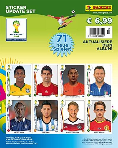 Panini 506990 - FIFA World Cup Brasil 2014, Sammelsticker Update Set mit 71 Sticker (2014 Sticker World Cup Panini)