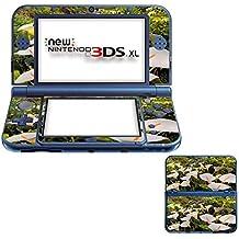 Flores 10007, Flor Blanca, Pegatina de piel cubierta de vinilo con laminado efecto de cuero y diseño colorido para New Nintendo 3DS XL Sticker