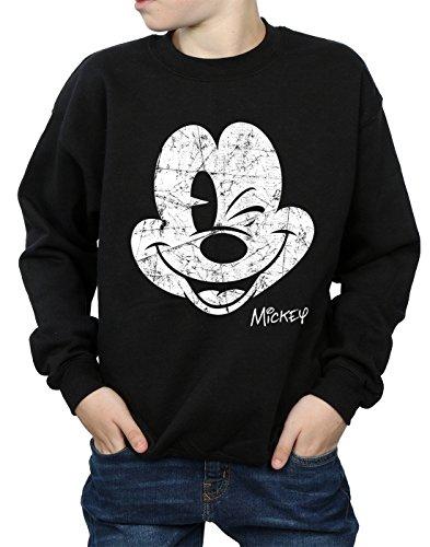 Disney niños Mickey Mouse Distressed Face Camisa De Entrenamiento