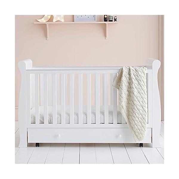 East Coast Kensington Sleigh 2 Piece Nursery Room Set Plus Mattress - White East Coast  5