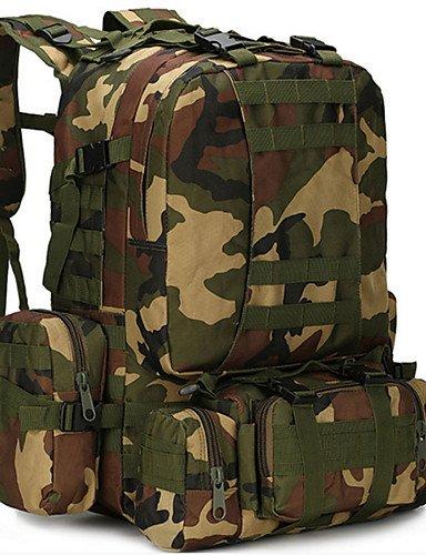 HWB/ 60L L Tourenrucksäcke/Rucksack Camping & Wandern / Klettern Draußen / Leistung Feuchtigkeitsundurchlässig / tragbar / MultifunktionsGrau camouflage brown
