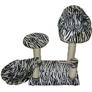 Cat Scratcher Bed Tree Scratching Activity Centre Scratch Post Kitten Zebra 0.7m