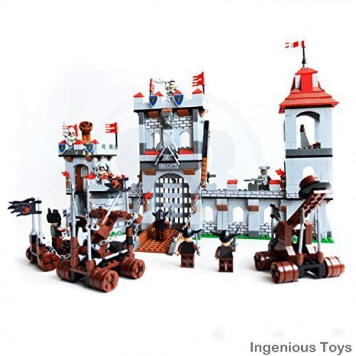 Ingenious Toys Caballeros castillo ataque mezcladas / 1208pcs compatible bloques de construcción #27113