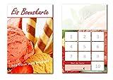 100 Stück Eis Bonuskarten (BOK-411) mit 10 Stempelfeldern. Treuekarten passend für Bereiche wie Eisdiele, Eiscafe, Eisverkauf