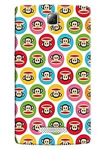 Omnam Monkey Pattern Printed Back Cover Case For Lenovo K4 Note