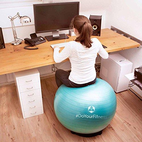 Gymnastikball »Orion« inklusive Ballschale / Robuster Sitzball und Fitnessball / 55 cm / skyblue inklusive Sitzschale - 4