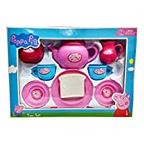 #2: Peppa Pig Tea set packed in Box carry case for Children of age 3 to 8 years| Premium Quality | Certified Safe as per European Safety Standards (EN71) | Fun and Educational toys for Kids | Multi Color | Includes 1 Kettle, 2 Tea cups & Saucers, 1 Sugar Pot, 2 Spoons, 1 Toast on Plate, 1 serving Trey and 1 Milk Jar