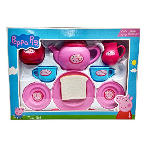Peppa Pig Tea set packed in Box carry case for Children of...