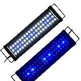 Aquarien Eco Aquarium LED Beleuchtung Aufsetzleuchte Blau Weiß Aquairumlampe 45-60CM