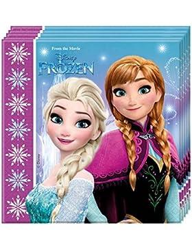 Procos 86757–Servietten Papier Disney Frozen Northern Lights (33x 33cm, 2-lagig), 20Stück, mehrfarbig