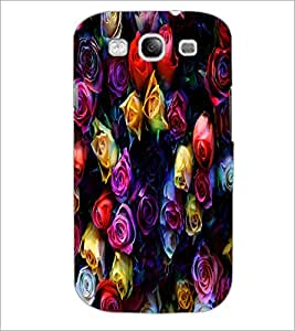 PrintDhaba Roses D-4377 Back Case Cover for SAMSUNG GALAXY S3 (Multi-Coloured)