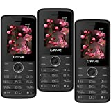 G'Five U229 Pack Of 3 Basic Feature Mobile Phones (Black)