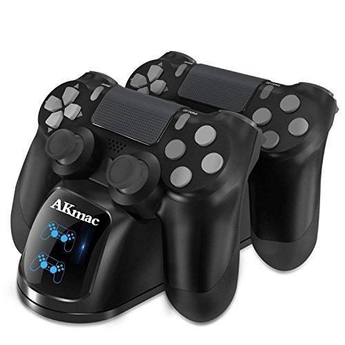 Ladestation für PS4 Controller 2 PlayStation 4, Dual USB Lade Docking Station für Sony PlayStation 4 / PS4 Slim / PS4 Pro Controller