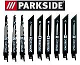 Parkside Lot de 9 lames de scie sabre PSSA 18 A1 – LIDL IAN 104447 3 x bois, 3 x...
