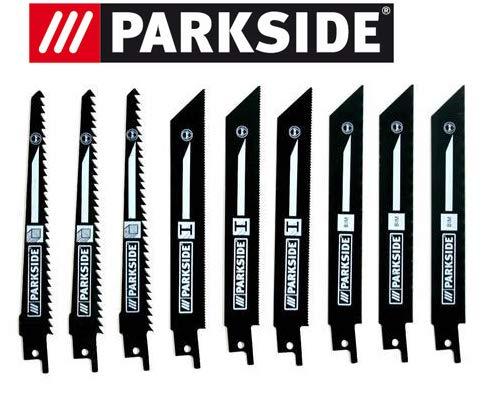 Parkside Lot de 9 lames de scie sabre PSSA 18 A1 – LIDL IAN 104447 3 x bois, 3 x métal, 3 x métal bi-métal