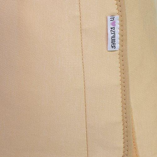 Stützende Bauchbinde-Bauchband-Bauchgürtel nach Geburt-Schwangerschaft-Kaiserschnitt mit stufenlos verstellbarem Klettverschluss, Schwarz, Weiß oder Beige, HERZMUTTER (3000) Beige