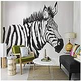 L22LW Wandbild Ein Schlafsofa Im Wohnzimmer Tv Hintergrund Tapete Tapete Handbemalte Retro Zebra Wandbild, 400 Cm * 280 Cm (H)
