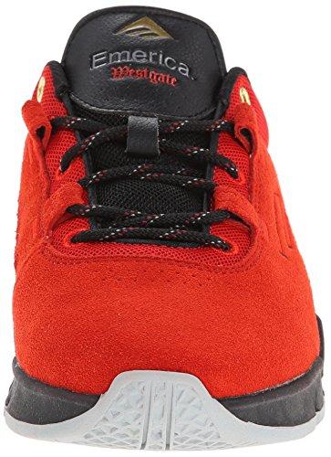 Emerica, Sneaker uomo Multicolore Black/Dark Grey/Grey rosso e nero