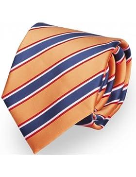 Cravatte da Fabio Farini rigato in arancione azzurro