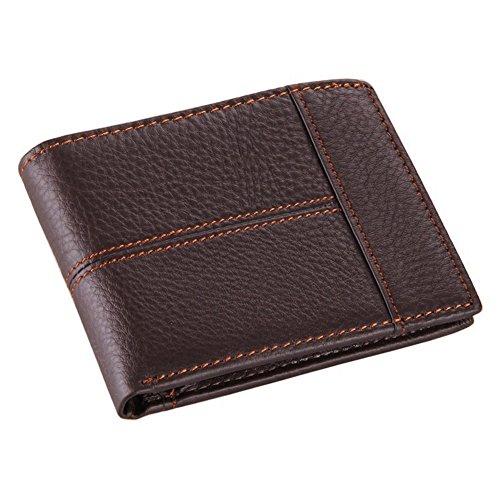 Stepack Marke Leder Brieftasche für Männer mit Münze Tasche Bifold Reise-Geld-Clip (Reise-geld-clip)