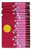 Lashuma Strandtuch Mykonos | rotes Duschhandtuch | Liegestuhl Handtuch | Strandhandtuch 100% Baumwolle | 75 x 150 cm