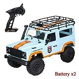 Krystallove MN-99 2.4G 4WD 1:12 Coche teledirigido para D90 Land Rover Edición - Military Rock Crawler RC Truck Buggy Todoterreno
