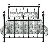 Original Bed Co Metallbett Hamilton Solo Eisenbett Metall Bettrahmen Satin Schwarz 180 x 200 cm