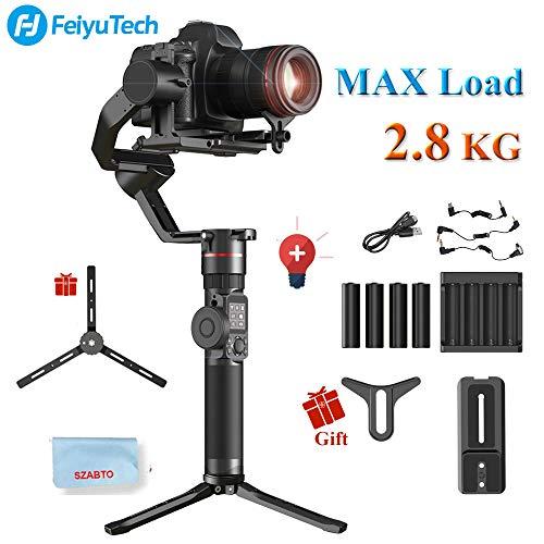 FeiyuTech Feiyu AK2000 3-Achsen Kamera Handheld Gimbal Stabilisator 2,8 kg Nutzlast mit Follow Focus-Zoom für Sony Canon 5D Panasonic GH5 / GH5S Nikon D850 mit Smart Touch Panel